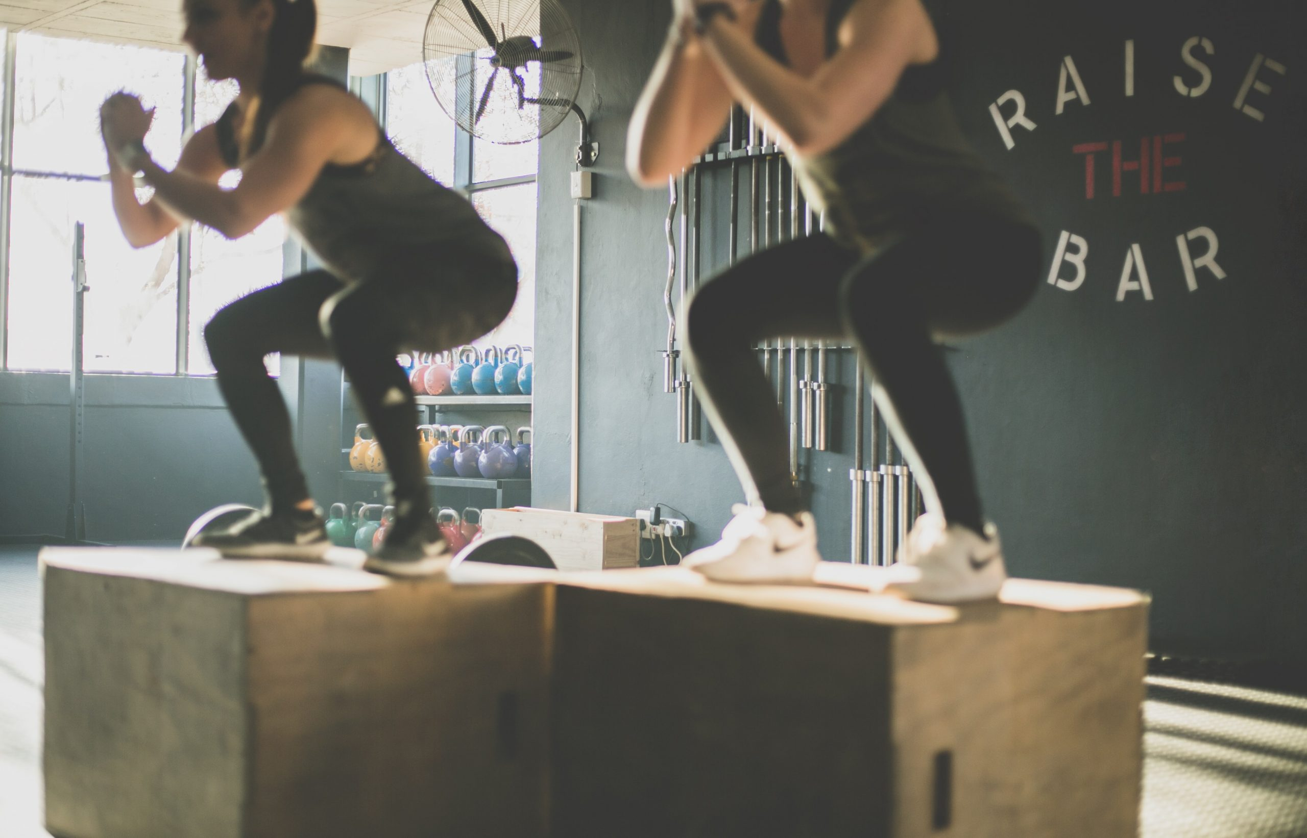 Squats and box jumps